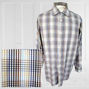 Banana Republic Dress Shirt sz 17/17.5 XL plaid